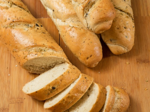 Olive and Rosemary Baguette